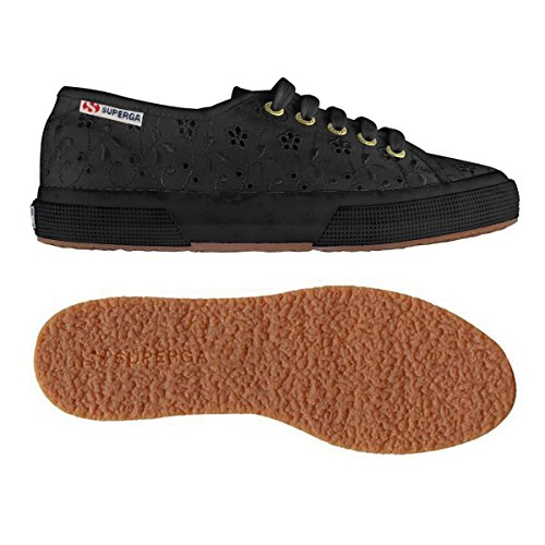 Superga 2750 Plus Sangallo Turnschuhe Neu Frauen. FULL BLACK (996)