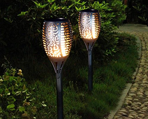Luci solari da giardino FIACCOLE illuminazione Flickering warmlicht IP65 impermeabile Outdoor Illuminazione Decorativa per balcone giardino percorso paesaggio hofen Rasen fahrweg (set da pezzi)