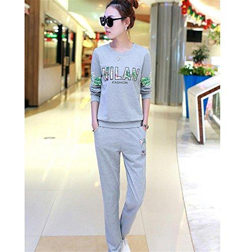 CHUNHUA Au printemps et en automne pyjamas manches longues de Dame coton loisirs sports vêtements slim set l XL XXL XXXL , e , l E