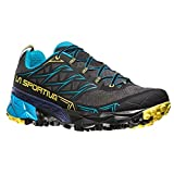 La Sportiva Akyra, Zapatillas de Trail Running para Hombre, Multicolor (Carbon/Tropic Blue 000), 47 EU