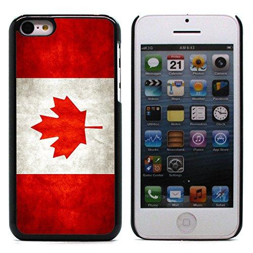 Graphic4You Vintage Uralt Flagge Von Kanada Kanadier Design Harte Hülle Case Tasche Schutzhülle für Apple iPhone 5C Kanada Kanadier