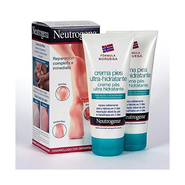 Neutrogena Crema de Pies Ultra Hidratante, Pies Secos y Estropeados, 2 x 100 ml