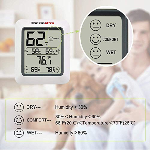 ThermoPro TP50 digitales Thermo-Hygrometer - 5
