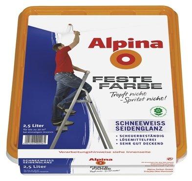 Preisvergleich Produktbild Alpina 2,5 L. Feste Farbe, Schneeweiss seidenglanz, sehr gut deckend
