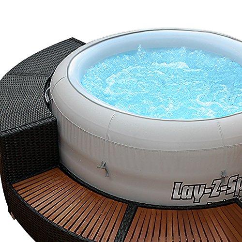 XXL Whirlpool Umrandung Polyrattan Pool Rahmen Verkleidung Poolumrandung - 4