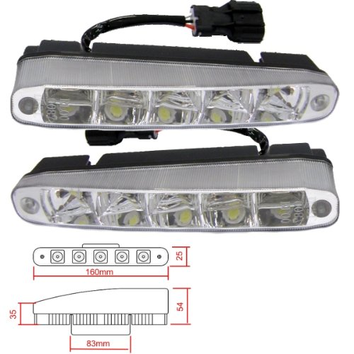 Preisvergleich Produktbild Akhan TL03 - LED Tagfahrlicht Positionslicht