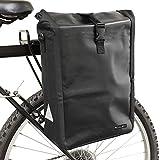 PedalPro Fahrradtasche für den Gepäckträger, wasserdicht, Schwarz