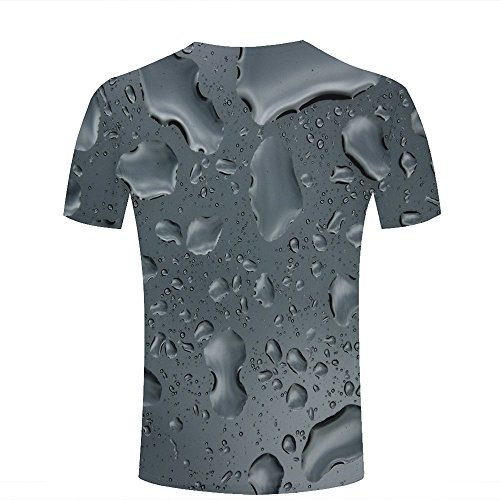 qianyishop 3d Print T Shirts Leaf Drop Water Nature Graphics Men Women Couple Fashion Tees B