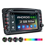 XOMAX XM-04ZA Autoradio passend für Mercedes Viano CLK Vito mit Android 6.0.1, GPS Navigation, WiFi, Bluetooth, 7 Zoll / 18 cm Touchscreen...