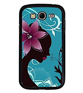 Fiobs High Glossy Designer Phone Back Case Cover Samsung Galaxy S6 Edge+ :: Samsung Galaxy S6 Edge Plus :: Samsung Galaxy S6 Edge+ G928G :: Samsung Galaxy S6 Edge+ G928F G928T G928A G928I ( Beautiful Butterfly Lady )