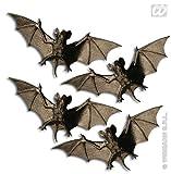 Fledermaus Halloween Deko schwarz-braun 4er-Set 11cm Einheitsgröße