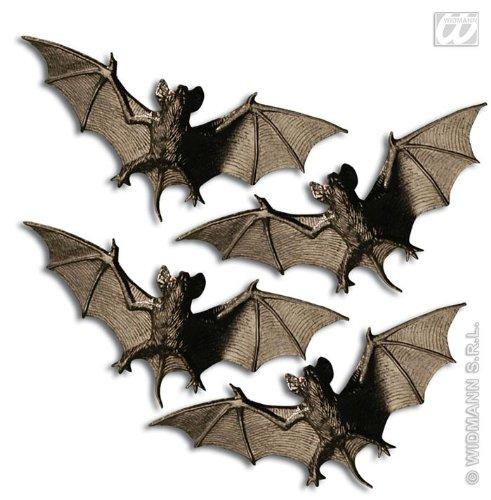 lloween Deko schwarz-braun 4er-Set 11cm Einheitsgröße (Deko-ideen Für Halloween)