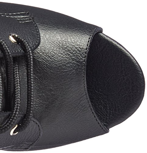 Pleaser ILLUSION-1021 Blk Faux Leather/Blk Matte