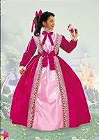 COSTUME DI CARNEVALE LADY PRINCIPESSA SISSI La confezione include tutto ciò che si vede in foto tranne il fiore; nel dettaglio: Vestito con cerchio, nastro per capelli, fiocchi e merletti cuciti sul vestito. I riferimenti per la taglia di son...