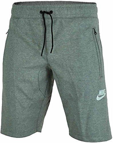Nike M Nsw AV15 Short FLC Kurze Hose für Herren, Grau (Dk Grey Heather/Black/Black/White), L (Zwei Fleece-shorts)