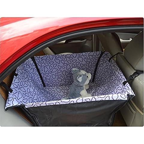 RUIRUI Plegable de viaje impermeable coche trasero asiento trasero amortiguador colgante Protector mascota perro gato seguro portador del animal doméstico perro casa hamaca Mat manta Mat cubrir , purple clouds