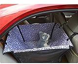 DIELIAN Auto-Schutz Hundekorb für Rückbank Transporttasche Schondecke Träger-Gurt verstellbar wasserfest sicherer Transport für Katze Haustier , purple clouds