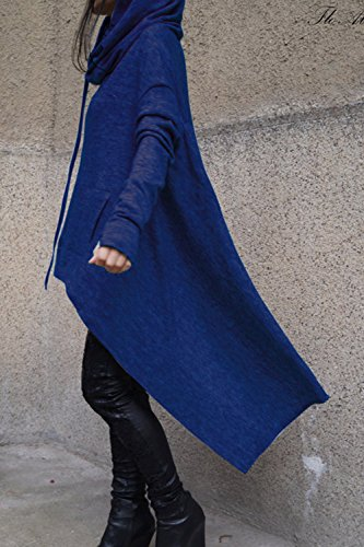 Un Pull - Over De Bas En Haut Des Sweats Asymétrique Gilet Sweat - Shirts blue