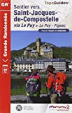 Sentier vers Saint-Jacques-de-Compostelle : Via Le Puy : Le Puy - Aubrac - Conques - Figeac