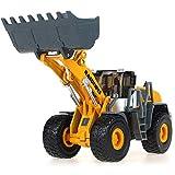 Luccky 2 en 1 Diecast Excavadora de metal y Camión volquete Niños Juguetes de construcción Fricción motorizada de construcción Excavadora y Volquete Vehículos inerciales Juguete Juguete de chuchería R