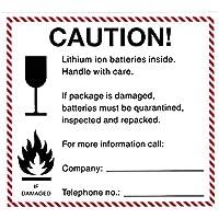 Advertencia de pegatinas para batería de ion de litio–100Unidades