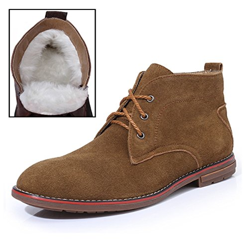 Minitoo , Bottes Chukka homme Fur-Lined/Brown