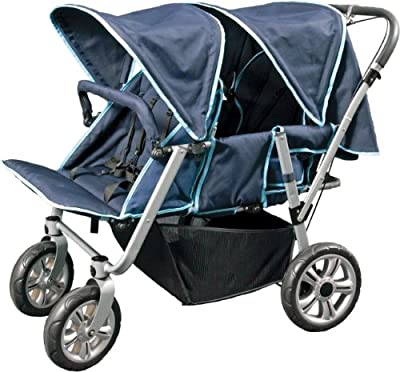 2gether 50705 Krippenwagen Helena, Kinderwagen für 4 Kinder, zusammenklappbar