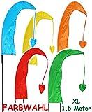 1 Stück _ 1,5 m - XL - Balifahne / Windfahne -  bunter Farbmix  - UV-beständig & wetterfest - Windrichtungsanzeige mit Fahnenstange - aus Nylon / Flagge Win..