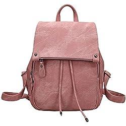 mochila Bolsos de Mujer Bolsa de Viaje Mochilas Tipo Casual Mochilas (rosado)