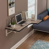 WEHOLY Wall-Mounted Folding Table Corner Wall-Mounted Desk Table L-Shaped Desk Study Table 7 Colors / 3 Sizes of Computer Desk (Color : C, Size : 120 * 60 * 40cm)