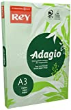 Rey Adagio–Risma da 500fogli di Carta Colorata per stampante laser/getto d' inchiostro/copiatrice 80g Formato A3 verde