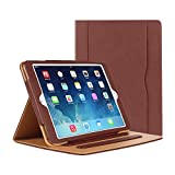 Danycase iPad Air Hülle - iPad PU Leder Smart Schutzhülle Cover Case mit Ständer Funktion und Auto-Einschlaf/Aufwach für Apple iPad Air/iPad Air 2(Modellnumber A1474 A1475 A1476 A1566 A1567) - Braun