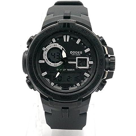 GL Orologio sportivo all'aperto maschile impermeabile orologio dual-display calendario escursionismo tabella, (Scheletro Orologio Da Tavolo)