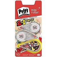 Pritt Roller Corrector Mini, pequeño y preciso, secado inmediato, 3 uds 4.2mmx7m