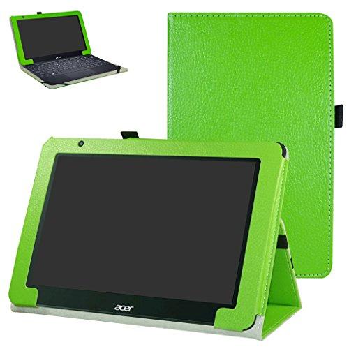 Acer One 10 S1003 Custodia,Mama Mouth slim sottile di peso leggero con supporto in Piedi caso Case per 10.1' Acer One 10 S1003 Windows 10 Tablet 2016,Verde
