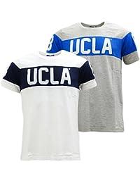 UCLA - T-shirt - Uni - Col Ras Du Cou - Manches Courtes - Homme gris gris
