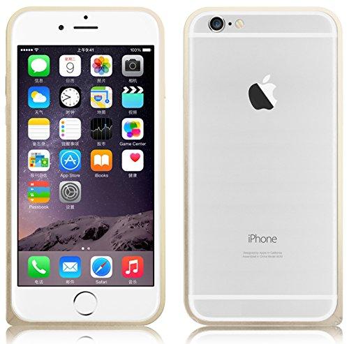 JAMMYLIZARD | Aluminium Bumper Hülle für [ iPhone 6 Plus 5.5 Zoll ], SCHWARZ Alu Bumper - GOLD