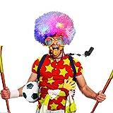 Funpa Peluca Payaso, LED Peluca de Payaso Afro Peluca Rizada Peluca de Payaso con Luces de Colores Intermitentes Disfraz de Halloween Cosplay Accesorios para Cabello para Niños Adultos