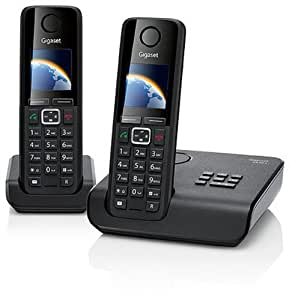 Gigaset A630 A Duo Dect-Schnurlostelefon mit Anrufbeantworter, incl. 1 zusätzlichen Mobilteil, schwarz