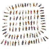 GoolRC 100Pcs OO Scale 1:75 Mix Painted Model Train Park Street Passenger People Figures Magic Toy for Kids Children