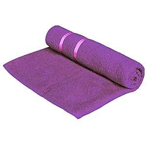 Story@Home 100% Cotton Soft Towel Single Piece, 450 GSM - 1 Full Size Bath Towel - Purple