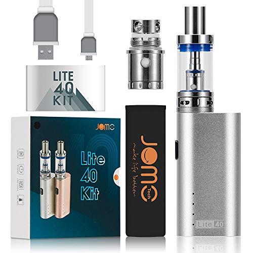 JOMO TECH E Zigarette Starterset Lite 40W Vaporizer Verdampfer E Damper Elektrische Zigarette Silber