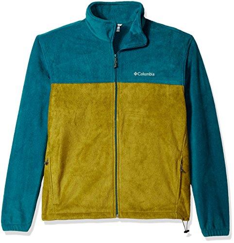 Columbia Men's Big and Tall Cascades Explorer Full Zip Fleece Jacket, Phoenix Blue, Mossy Green, Medium