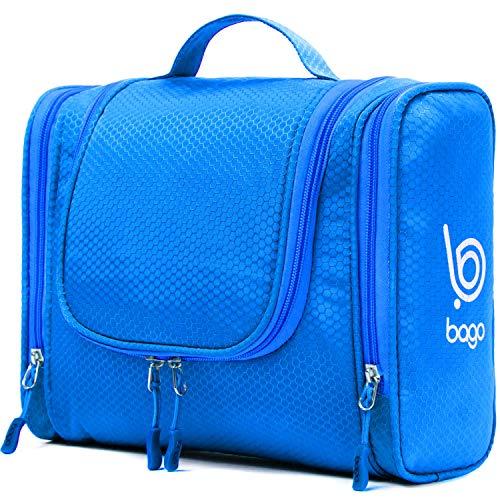 Bago Kulturbeutel/Dusch-Tasche für Reisen, Pflegeprodukte, Makeup und mehr (Blau)