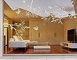 Fenstersticker No. RS85Drei Äste–Glas Fenster Film selbstklebend | Milchglas Film 5Farben Fenster Folie selbstklebend Sichtschutz Milchglas Badezimmer Farbe: Romantic Rose; Maße: 138cm x 100cm