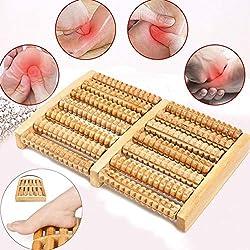 Masseur de pieds, Angeer double Rouleau masseur de pieds avec boule de massage pour fasciite plantaire restauration et muscles Tendus Relax