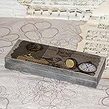 Vintage Holz-Federkästchen, 22x8,5x3 cm Federmäppchen Federmappe Griffelkasten