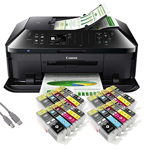 Canon PIXMA MX925 All-in-One Multifunktionsgerät USB/WLAN/LAN/Apple AirPrint (Drucker, Scanner, Kopierer und Fax) +USB Kabel & 20 YouPrint Tintenpatronen (Originalpatronen nicht im Lieferumfang) - Canon Pixma Office All In One