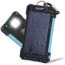Innoo Tech Cargador Solar 10000mAh, Power Bank portátil con Batería Externa y Protección IP65(