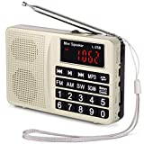 Radio PRUNUS Portable SW/FM/AM(MW)/ SD/TF/USB(0-64 GB) MP3. Large Bouton et...